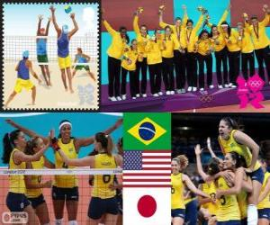 London 2012 Damen volleyball puzzle