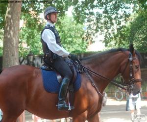 Londoner Polizei auf dem Pferderücken puzzle