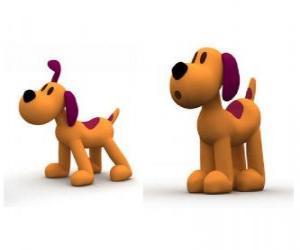 Loulou ist der Hund das Maskottchen von Pocoyo puzzle
