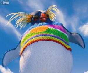 Lovelace, eine seltsame Pinguin mit einem farbigen Wollpullover, Happy Feet 2 puzzle