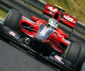 Lucas di Grassi - Virgin - 2010 Grand Prix von Ungarn puzzle