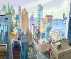 Luftaufnahme der Stadt Mouse puzzle