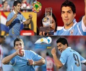 Luis Suarez beste Spieler der Copa America 2011 puzzle
