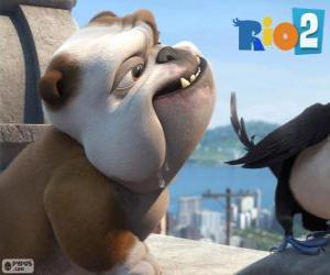 Luiz in dem Film Rio 2 puzzle