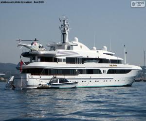 Luxusyacht Lady Marina puzzle
