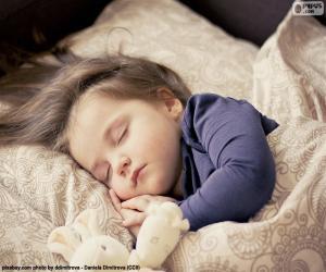 Mädchen schläft puzzle