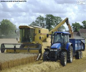 Mähdrescher und Traktor puzzle