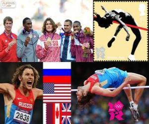 Männer Hochsprung Leichtathletik London 12 puzzle