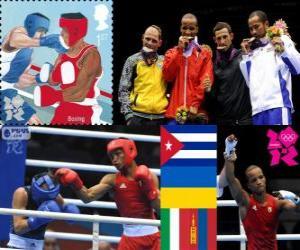 Männer-Leichtgewicht Boxen London 2012 puzzle