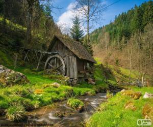 Mühle aus Holz puzzle