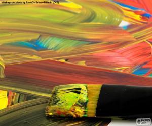 Malen in verschiedenen Farben puzzle