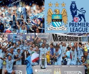 Manchester City, Meister Premier League 2011-2012, Fußball-Liga aus England puzzle