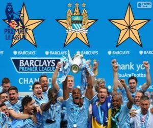 Manchester City, Premier League 2013-2014 Weltmeister, England Fußball-Liga puzzle