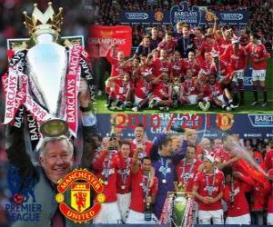 Manchester United, Meister der Fußball-Bundesliga Englisch. Premier League 2010-2011 puzzle