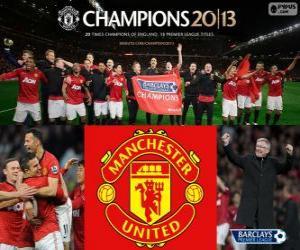 Manchester United, Meister Premier League 2012-2013, Fußball-Liga aus England puzzle