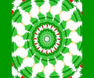 Mandala mit Weihnachtsschmuck puzzle