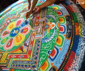 Mandala, neuesten Retusche puzzle