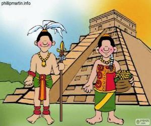 Mann und Frau Maya puzzle