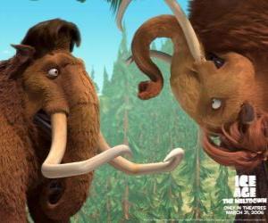 Manny und Ellie, zwei mammuts liebhaber puzzle