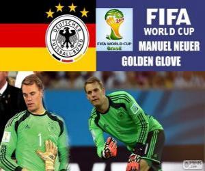 Manuel Neuer, Goldener Handschuh. Brasilien 2014 FIFA Fußball-Weltmeisterschaft puzzle