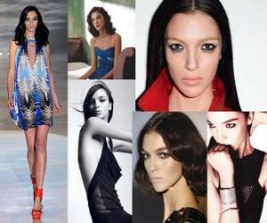 Mariacarla Boscono ist ein italienisches Modell puzzle