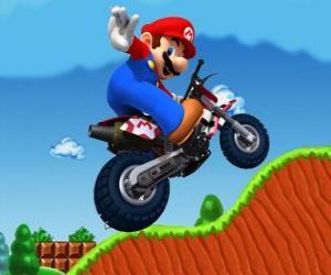 Mario Bros auf einem Motorrad puzzle