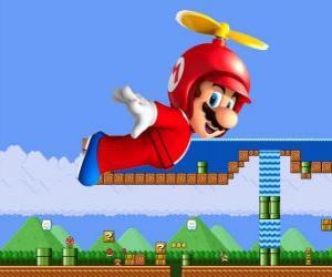 Mario fliegen mit dem Rumpf mit Propeller puzzle