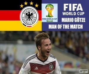 Mario Götze, bester Spieler des Finales. Brasilien 2014 FIFA Fußball-Weltmeisterschaft puzzle
