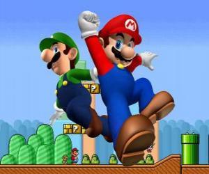 Mario und sein Bruder Luigi, die berühmtesten Klempner puzzle