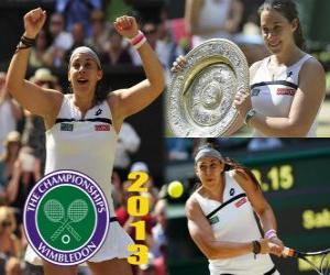 Marion Bartoli Meister Wimbledon 2013 puzzle