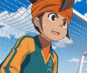 Mark Evans oder Mamoru Endo, Torhüter des Raimon Schule Footballmannschaft und Protagonist der Serie Inazuma Elf puzzle