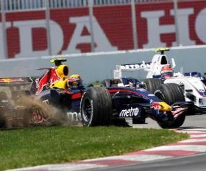 Mark Webber der seinen F1 puzzle