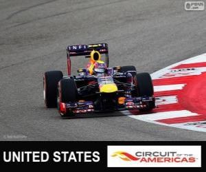 Mark Webber - Red Bull - Grand Prix der USA 2013, 3. klassifiziert puzzle