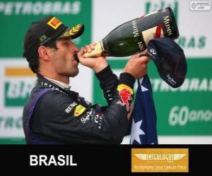 Mark Webber - Red Bull - Grand Prix von Brasilien 2013, 2 º klassifiziert puzzle