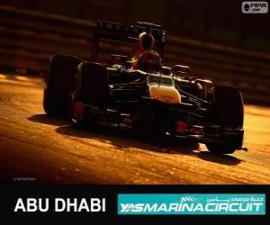 Mark Webber - Red Bull - Großer Preis von Abu Dhabi 2013, 2 º klassifiziert puzzle