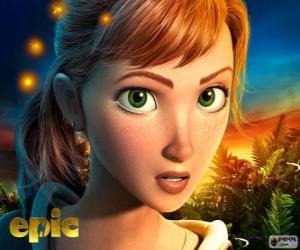 Mary Katherine, ein junges Mädchen lebt Abenteuer in einer fantastischen Welt puzzle