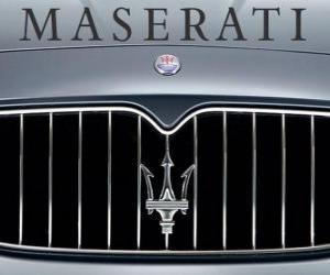 Maserati-Logo, italienischen Sportwagen-Marke puzzle