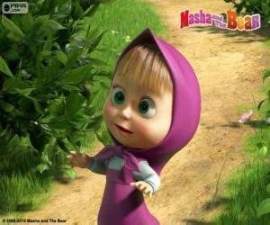 Masha, das kleine Mädchen, die Hauptfigur von Mascha und der Bär puzzle