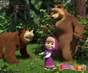 Masha mit zwei Bären puzzle