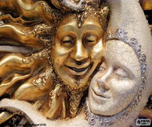 Masken von Sonne und Mond puzzle