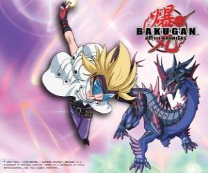 Masquerade und seine Bakugan Darkus Hydranoid puzzle