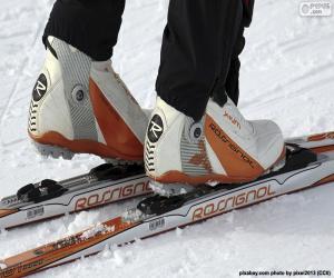 Material der Skilanglauf puzzle