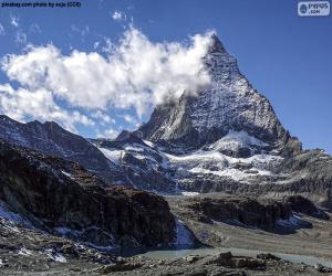 Matterhorn, Schweiz und Italien puzzle