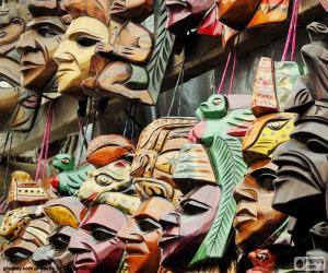 Maya-Masken puzzle