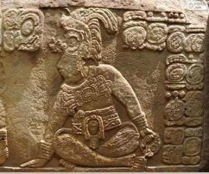 Maya-Zeichnungen auf einem Stein gemeißelt puzzle