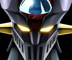 Mazinger Z, kopf des gigantischen Super Robot, Hauptfigur der Abenteuer im Manga-Serie Mazinger Z puzzle
