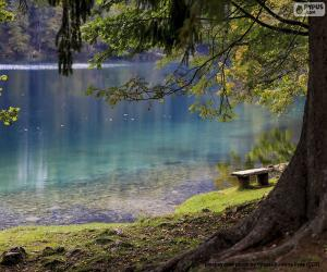 Meditation auf dem See puzzle