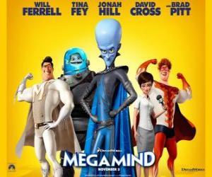 Megamind Hauptfiguren puzzle