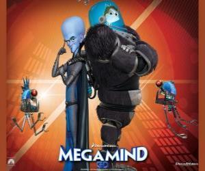 Megamind mit Minion, der Fisch weise puzzle