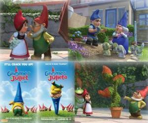 Mehrere Bilder von Gnomeo und Julia puzzle